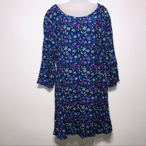 GAP NWT Vibrant Floral 3/4 Sleeve Dress Size 16